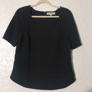Ann Taylor Black Dress Top